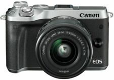 Canon EOS M6 +15-45mm Lens Silver Mirrorless 24.2MP WiFi NFC Camera