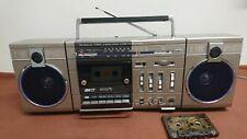 """Audio Sonic"" Stereo Radio Cassette Recorder Mini Boombox. Works. Vintage."