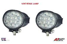 2X 42 W Impermeable 14 LED haz puntual de trabajo Luz Lámpara Barra OFFROAD ATV 4X4 12 V 24 V
