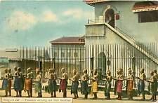 Burma, Rangoon, Rangoon Jail, Prisoners Carrying Out Their Breakfast 1914 PC