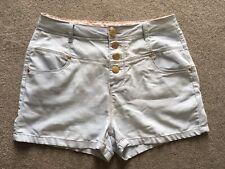 Womens High Waisted Light Blue Denim Shorts Size 16