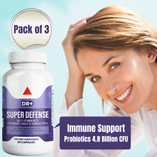 Emergency Immune Support w/ Probiotics, Elderberry, Zinc, Vitamin C, 3-Pack