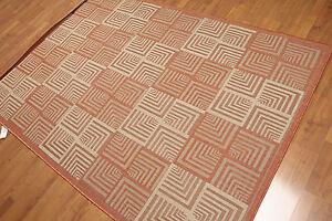 "5'4"" x 7'8"" Traditional Oriental Area rug Flat pile AOR7358 Terracotta"