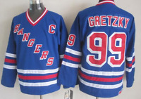 New York Rangers Hockey Jersey Wayne Gretzky Blue M, L, XL, XXL