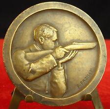 Médaillle Société de tir shooting fusil armes ball-trap par Fraisse Medal 勋章 gun