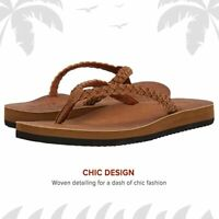 Flojos Women's Sky  Sandal vegan  leather Flip Flop Beach summer size 6 NWT
