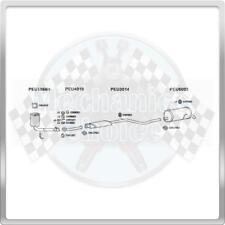 Full Exhaust System for Peugeot 206 1.6 (10/00-01/06)