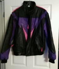 CKX INTERNATIONAL NEW Genuine Leather Snowmobile Jacket Black, Purple, & Pink. M
