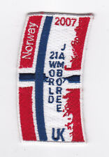 2007 World Scout Jamboree NORWAY / NORGE SCOUTS Contingent Patch