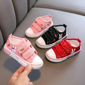 Toddler Girls Infant Canvas Shoes Trainers Pumps Sizes 4 5 6 7 8 9 10 11 12.