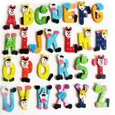 Kids Alphabet ABC Toys Magnetic Letter Set Wooden Educational Puzzle Shape Color