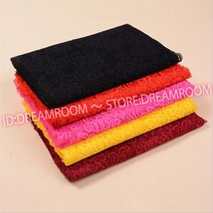B243 1yard Flower Stretch Lace Trim Ribbon Elastic fabric 30cm wide Sewing Craft