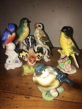 Lot 6 Oiseaux Porcelaine- 6 Porcelain Birds