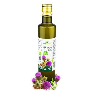 Certified Organic Cold Pressed Milk Thistle Seed Oil 500ml Biopurus