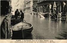 CPA PARIS Passerelles rue de Bellechasse INONDATIONS 1910 (606114)