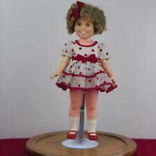 "Vintage Shirley Temple Ideal Doll Vinyl 16"" Polka Dot Dress 1972 214-5634"