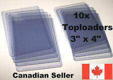 "10x Toploaders 3"" x 4"" Clear Hard Plastic Holders for Sports Trading Cards"