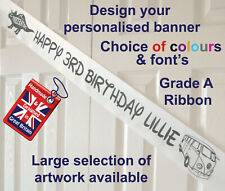 HAPPY BIRTHDAY BANNER, PARTY DECORATION, PERSONALISED BANNER,