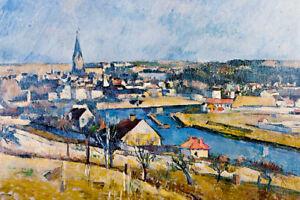 Paul Cezanne Ile De France Landscape Fine Art Poster 18x12 inch
