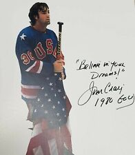 "RARE Signed "" BELIEVE IN YOUR DREAMS JIM CRAIG 1980 GOLD "" USA Olympic Hockey"