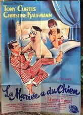 Affiche 120x160 cm pliée : La Mariée a du chien - Tony Curtis-Wild and Wonderful