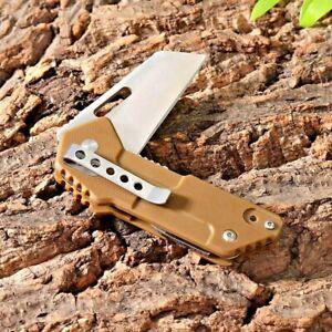 Multifunctional Wharncliffe Folding Knife Pocket Hunting Survival G10 Handle EDC