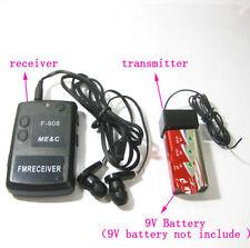F908 Wireless transmitter receiver mini Covert FM Audio Listening Device Ear spy