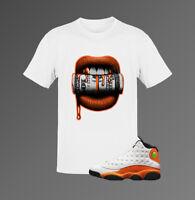 Shirt for Air Jordan 13 ''Starfish'' Unisex T-shirt |Lips-White Shirt