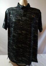 Under Armour HeatGear Black/White Shirt w/collar Mens Size Medium New with tags