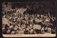 75623 AK Strassburger Trachtenzug Wagen von Geispolsheim 1918