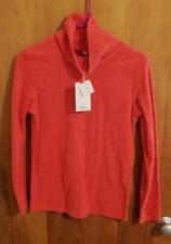 NWT Vancl Fleece Cowl Neck Top Long Sleeve Orange Red US Size S/M