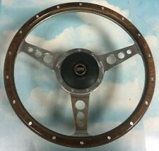 "ROVER AUSTIN MINI COOPER 13"" WOOD STEERING WHEEL WITH BOSS KIT"