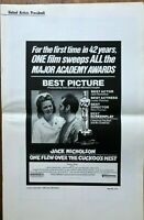 One Flew Over The Cuckoo's Nest - United Artists Pressbook 1976 Movie