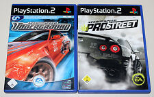 2 PS2 SPIELE BUNDLE - NEED FOR SPEED - PRO STREET & UNDERGROUND - PLAYSTATION