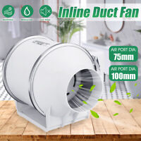 "3""/4"" In-line Duct Booster Exhaust Air Blower Fan Mixed Flow Ventilation"