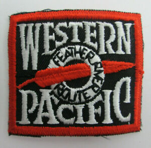 "Western Pacific Feather River Route Patch 2 1/4"" by 2"" Railroad Train USED"