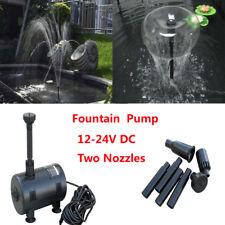 New 12V-24V Solar Powered Submersible Fountain Pond Brushless Water Pump Garden