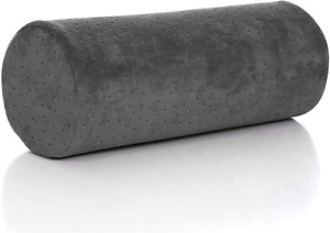 Bamboo Red Round Cervical Roll Cylinder Bolster Pillow with Removable Washable