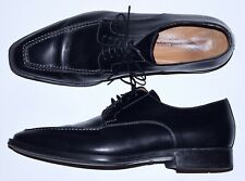 SANTONI BLACK OXFORD 8 D DRESS SHOES VERY ELEGANT