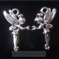 50pcs 25mm Charms Angel Girl Tibet Silver Pendants Connectors DIY Jewelry A7703