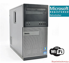 Fast Dell Optiplex Desktop PC Computer Quad Core i3 8GB 1TB Win 10 Pro WIFI