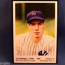 Joe DiMaggio, New York, ArtCard #14 - Baseball card of HOF player c.1940's