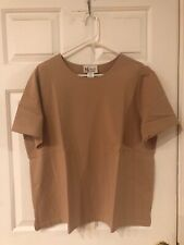 MAGGIE SWEET WOMEN'S TAN SHORT SLEEVE TOP SIZE 1X NWT