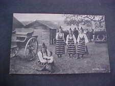Rattvik Dalarne Sweden Costume Girls Postcard Postally