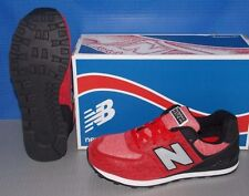KIDS NEW BALANCE KL 574 BEG in colors RED / BLACK SIZE 5