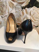 Giuseppe Zanotti Peeptoe Heels Black Leather Size 38.5