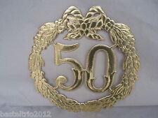 Jubiläumszahl 50 gold Goldhochzeit Hochzeit Türdeko Krepprosen Türkranz Jubiläum