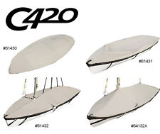 Custom Fit LASER Sail Boat OEM Club 420 Deck Cover Mast Up Institutional /Tented