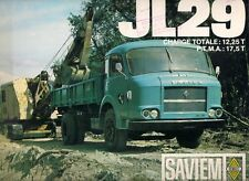 Saviem JL 29 Truck & Tractor Unit c 1966 French Market Sales Brochure
