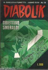 DIABOLIK ORIGINALE ANNO XXV  n° 13-  1986- RARO - BUONO - [ rif YY ]